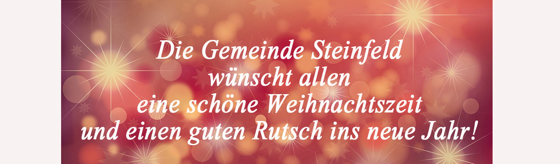 Steinfeld Banner  - Weihnachtszeit